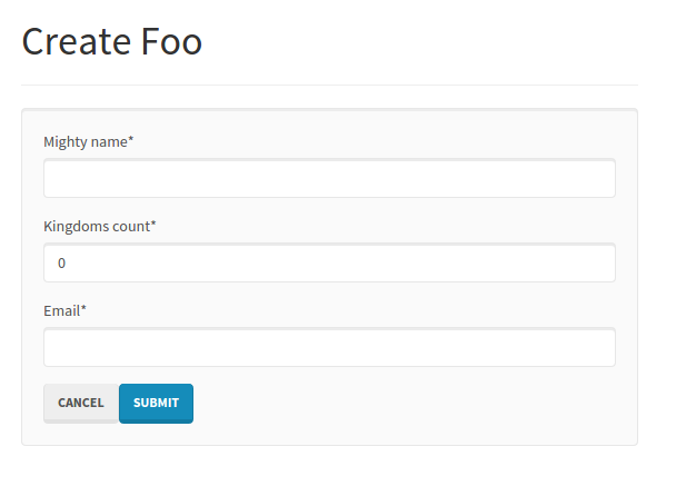 Foo form with submit